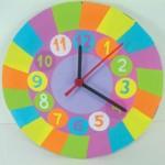 Ρολόι Τοίχου Ουράνιο Τόξο για το Παιδικό Δωμάτιο