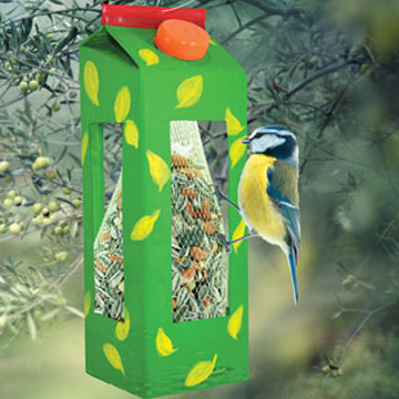 Φωλιά Πουλιών με ένα Κουτί Γάλα