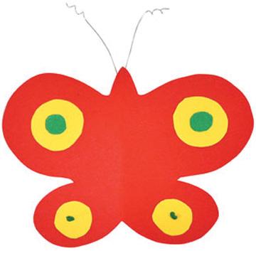 Πεταλούδες με χαρτί