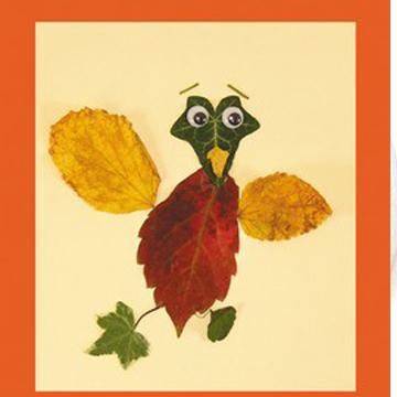 Κολάζ για Παιδιά με Φύλλα