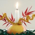 Χριστουγεννιάτικο Κηροπήγιο από Μήλο