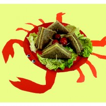 Πιάτο για Σνακ Καβουράκι για Παιδικό Πάρτυ
