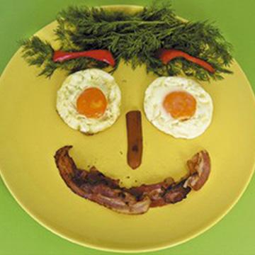 Αυγά Μάτια με Μπέικον για Πρωινό