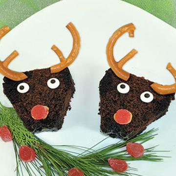 Συνταγή για Χριστουγεννιάτικα Brownie Τάρανδος