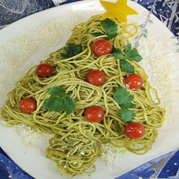 Χριστουγεννιάτικη Συνταγή Μακαρονάδα Δέντρο