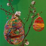 Διακοσμητικά Πασχαλινά Αυγά από Κλωστή