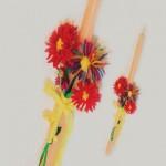 Χειροποίητη Λαμπάδα για τη Νονά με Λουλούδια