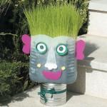 Γλάστρα  για το Σπίτι με Ανακυκλώσιμα Υλικά
