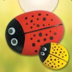 Πασχαλίτσες από βότσαλα για τον Κήπο