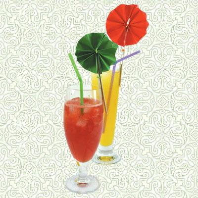 Διακόσμηση Ποτηριών Χυμού με Λουλούδια