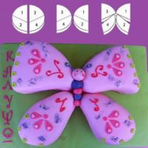 Τούρτα Γενεθλίων Πεταλούδα για Κορίτσια
