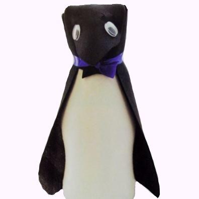 Πιγκουΐνος από Πλαστικό Μπουκάλι για Διακόσμηση