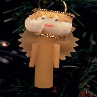 Χριστουγεννιάτικα Αγγελάκια από Μακαρόνια