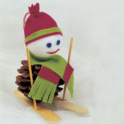 Διακοσμητικό Χριστουγέννων Σκιέρ Χιονάνθρωπος
