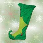 Χριστουγεννιάτικη Κάλτσα Ξωτικού για το Τζάκι