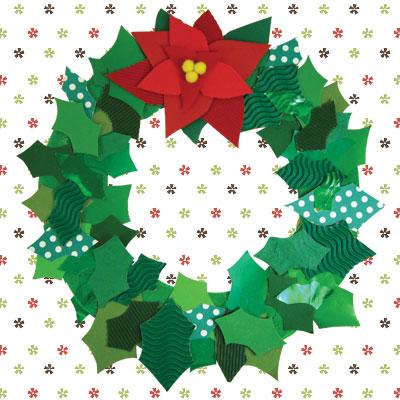 Χάρτινο Χριστουγεννιάτικο Στεφάνι