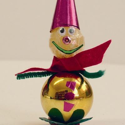 Χριστουγεννιάτικη Κατασκευή Γλειφιτζούρι Χιονάνθρωπος