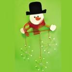 Γιορτινή Διακόσμηση Χιονάνθρωπος Κρεμάστρα