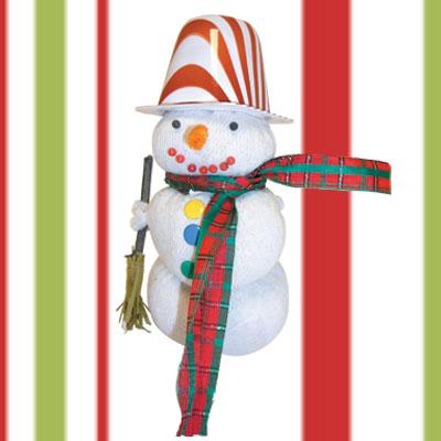 Κατασκευή Χιονάνθρωπος από Ρύζι