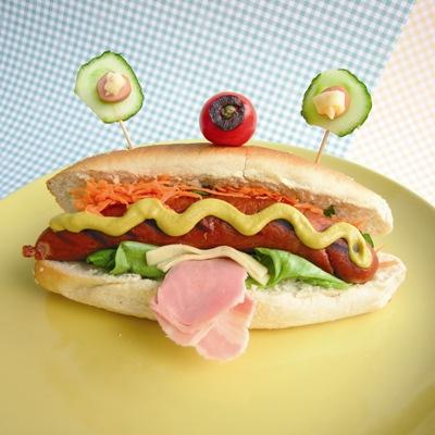 Σπιτικό Σνακ Ηοt Dog σε σχέδιο UFO