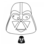Αποκριάτικη Μάσκα Σκοτεινός Darth Vader