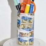 Εύκολη Κατασκευή Μολυβοθήκη από Γραμματόσημα
