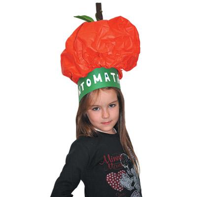 Αποκριάτικο Καπέλο Ντομάτα