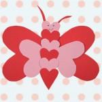 Πεταλούδα από Χαρτί με Καρδιές