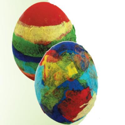 Κατασκευή Πασχαλινά Αυγά Με Χαρτί Γκοφρέ