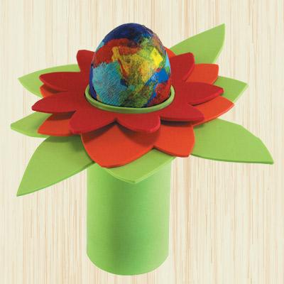 Πασχαλινή Κατασκευή Αυγοθήκη σε Σχήμα Λουλουδιού