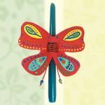 Πασχαλινή Κατασκευή Λαμπάδα σε Σχήμα Πεταλούδας
