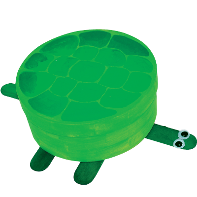 Εύκολη Κατασκευή κουτί χελώνα