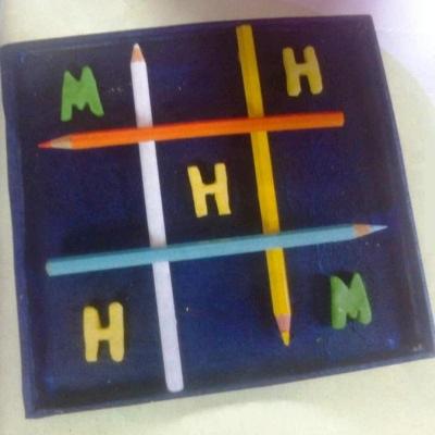 Παιχνίδι Τρίλιζα για παιδιά με μολύβια
