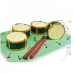 Τούρτα Ντραμς για Μουσικό Παιδικό Πάρτυ