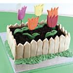 Τούρτα Γενεθλίων Κήπος-Τουλίπες