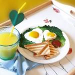 Πρωινό για Παιδιά, Αυγά Καρδούλες
