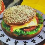 Τούρτα Burger για το Θεματικό Πάρτι Fast Food