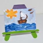 Κατασκευή για το Παιδικό Δωμάτιο Καβαλέτο από Ξυλάκια